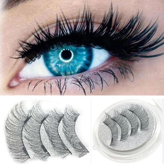 27603ee6b2a 1 Pair 4Pcs Magnetic Eye Lashes Ultra-thin 0.2mm Long think 3D Double magnetic  false eyelashes natural Lahses 2U0119