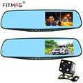 4.3 pulgadas espejo retrovisor dashboard leva de la cámara del coche dvr 170 grados de video digital que conduce el registrador night versión motion detección