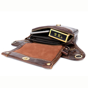 Image 5 - MVA Leather Funny Waist Packs Drop Leg Bags Belt Pouch Mens Motorcycle Leg Bag Genuine Leather Phone Pouch Male Hip Packet 3237