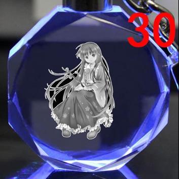 Светодиодный аниме брелок кристалл Touhou Project 4