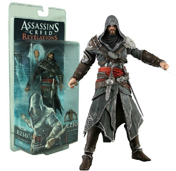 NECA assassins creed action figure Ezio 18cm toys neca action figure garage kits toys for birthday gift neca assassins creed 3 connor the hunter figurine classic game pvc action figures juguetes doll kids hot toys for children men