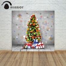 background photo christmas photography Retro tree ball floor wall xmas vinyl color decorations camera prop