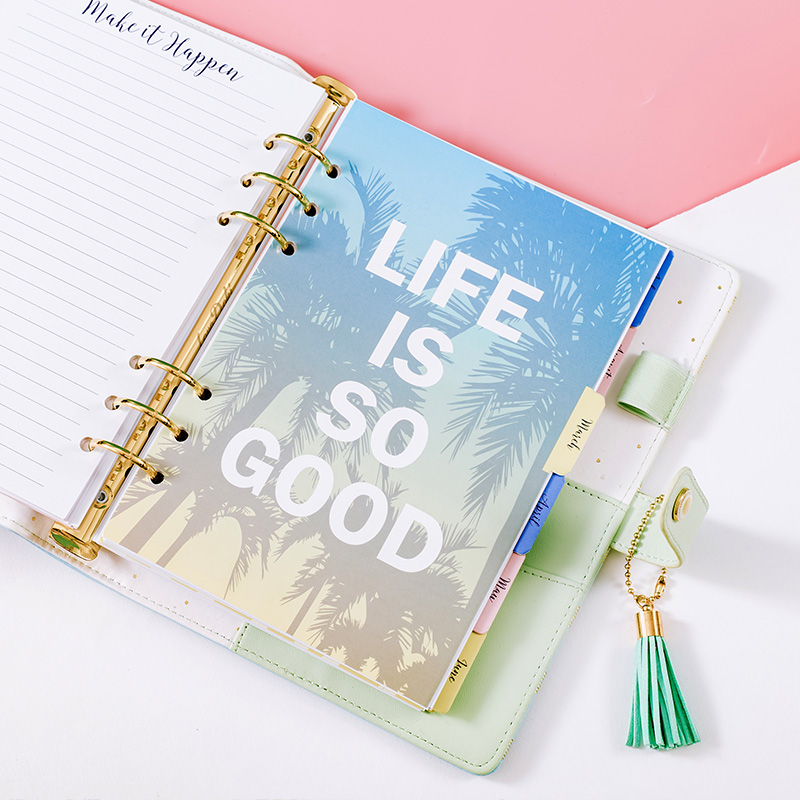 Lovedoki Mid Summer Series Filler Papers For Filofax Spiral Notebook Weekly Plan Planner A5 Inner Core Office & School Supplies