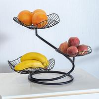 Fruit Vegetable Basket Countertop Fruit Basket Bowl Storage Three layer Fruit Basket for Living Room