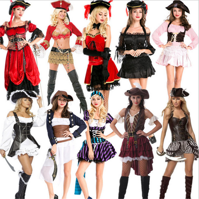 2018 new Sexy Women Pirate Costume high quality Cosplay Buccaneer Halloween Women Pirate dress Multicolor Female  sc 1 st  AliExpress.com & 2018 new Sexy Women Pirate Costume high quality Cosplay Buccaneer ...