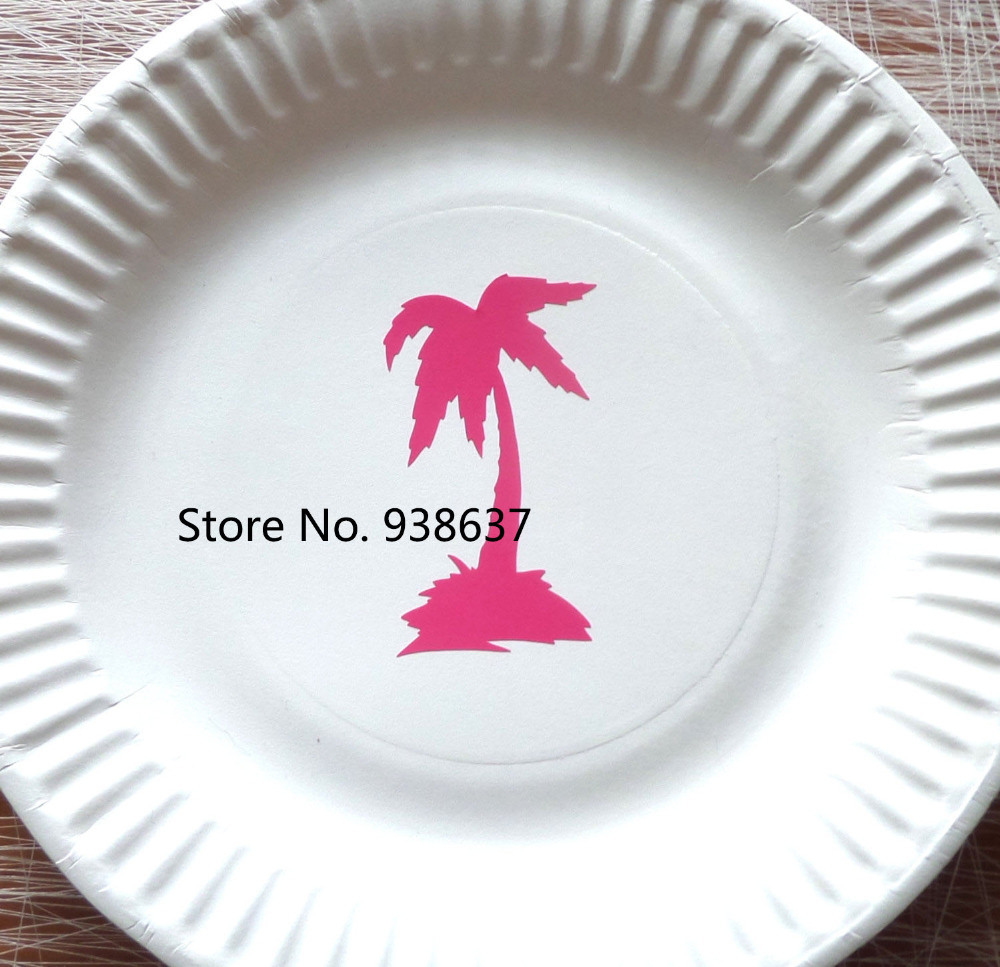 Gold Palm Tree Stickers Hawaii Theme Party Decoration Tropical ...