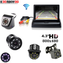 Koorinwoo Vehicle 4.3 TFT LCD Monitor Folding Car Rear view Camera Reverse Cam detector Video Jalousie For Car Parking System