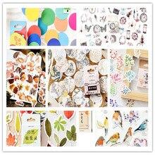 46pcs/box Kawaii Asakusa garden robin Sticker Decoration Stickers DIY Planner Scarpbooking Label Children Stationery