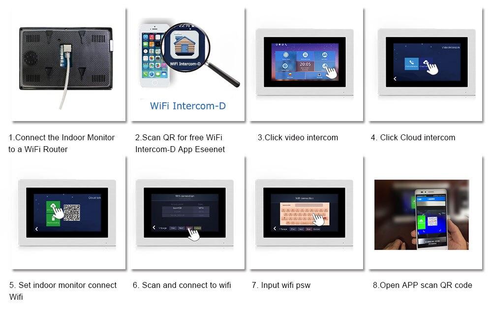 US $308 16 28% OFF WIFI IP Video Door Phone Intercom System Video Doorbell  7'' Touch Screen for 2 Floors Apartment/8 Zone Alarm Support Smart Phone-in