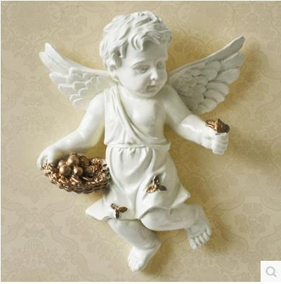 European-style resin wall Angel, wall decoration crafts, creative - Home Decor - Photo 4