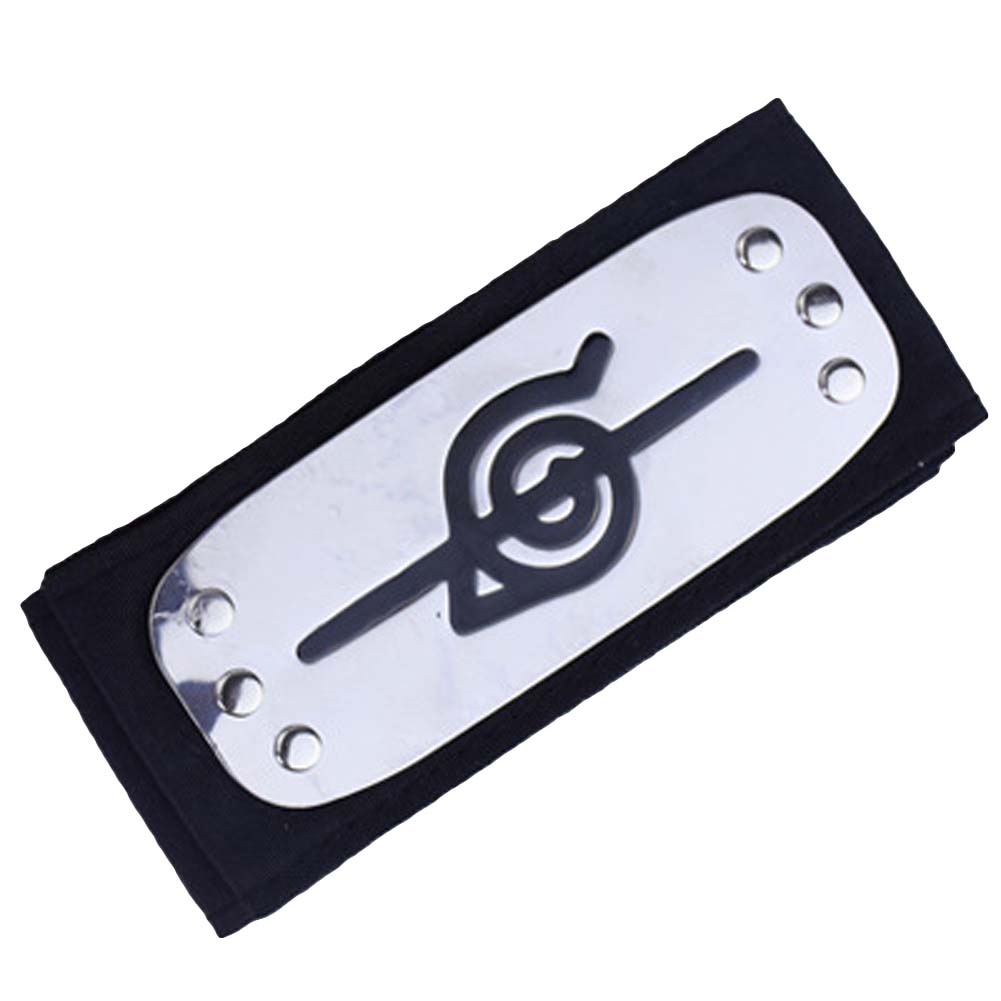 Free Shipping Anime Naruto   Headwear   Leaf Village Logo Konoha Uchiha Itachi Kakashi Akatsuki Members Costume Accessories