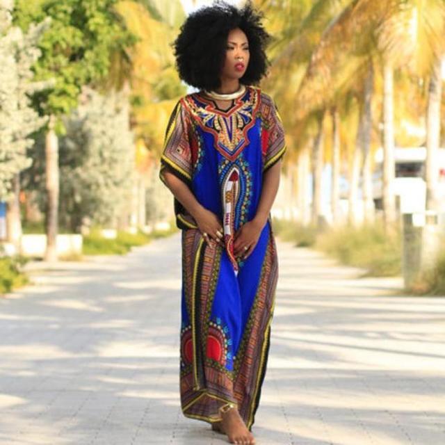 12b98d06fcf8 MUQGEW Women Fashion African Print Dress Casual Straight Print Kaftan Dress  Wear To Work Office Casual Party A Line Skater