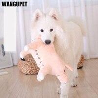 WANGUPET 37*23 Cm Cartoon Pig Shape Sang Trọng Con Chó Đồ Chơi cho Lớn chó Trút Lợn Răng Cắn Kitten Gối Ngủ Nhỏ Dog Chew đồ chơi