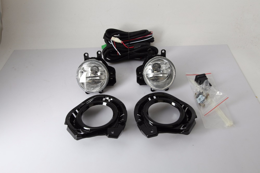 eOsuns halogen fog lamp for toyota axio 2015, with fog lamp, frame, wires and switch