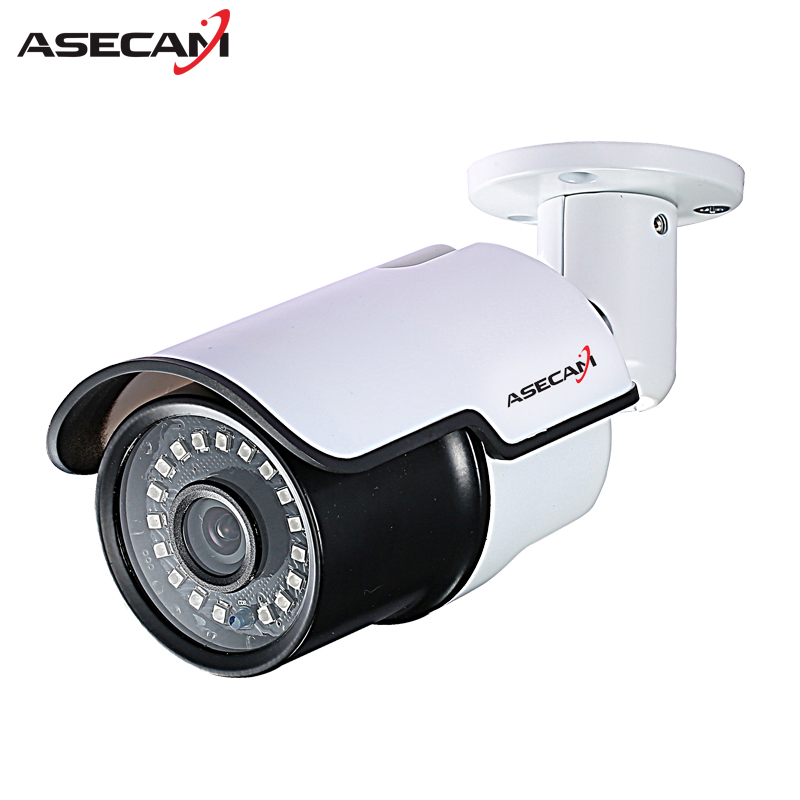HD 720P IP Camera 48V POE White Bullet Metal Waterproof Onvif WebCam CCTV Infrared Night Vision Security Network Surveillance new hd ip camera 1080p cctv infrared white bullet outdoor security network onvif p2p 2mp surveillance camera 48v poe xmeye app