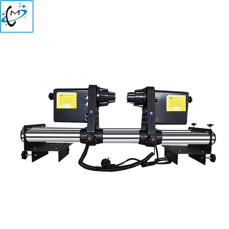 Mutoh 1604 RJ900C large format printer take up Reel system receiving paper double motor Roland Paper Collector system 38mm printer paper take up reel system for epson stylus pro 11880c