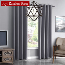 JRD Modern Blackout Curtains For Living Room Window Curtains For Bedroom Curtains Fabrics Ready Made Finished Drapes Blinds Tend cheap Hospital Cafe Hotel Office Home Decoration + Full Light Shading Cyh0055 Polyester Cotton JCyh Rainbow Decor Pleated Rope