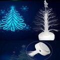 12 cm de fibra óptica da árvore de Natal da lâmpada led cor mudar night light para crianças decoração da lâmpada presente xmas party nightlight