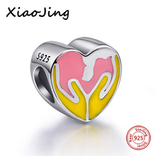 hot deal buy charms gift 100% 925 sterling silver mother hug baby love beads pendants fit european bracelets & bangles for mother's day gift