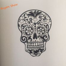 Skull Wall Decal Stickers Rock style Wall Art Mural Decor Free Shipping
