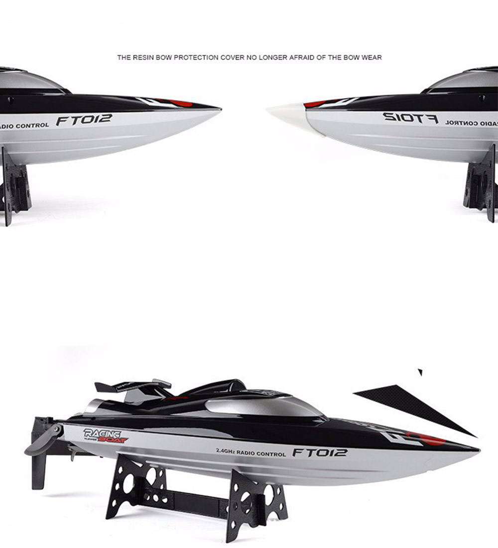 FT012 2.4G Remote Control Racing Boat Model Speedboat High Speed 45km/h RC Boat with Water Cooling Systerm