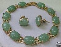 Prett Belle Femmes de Bijoux De Mariage vert gem bracelet boucle d'oreille ensembles> AAA GP De Mariée large montre ailes reine JE mujer moda