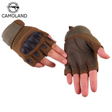 CAMOLAND New Outdoor Tactical Gloves Half Finger Sports Hiki