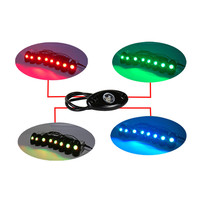 car fashion led light Waterproof RGB Color 8LED Under Car Chassis Underbody Atmosphere Light Neon Lamp universal