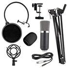 Internet celebrity Condenser KTV Microphone BM700 Cardioid Pro Audio Studio Vocal Recording Mic KTV Karaoke With Shock Mount