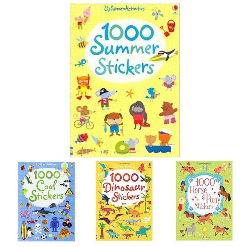 Kinder 1000 Wiederverwendbare Cartoon Aufkleber/Kinder Baby Tier/Dinosaurier/Prinzessin/Aufkleber Bücher Für Kindergarten Schulen
