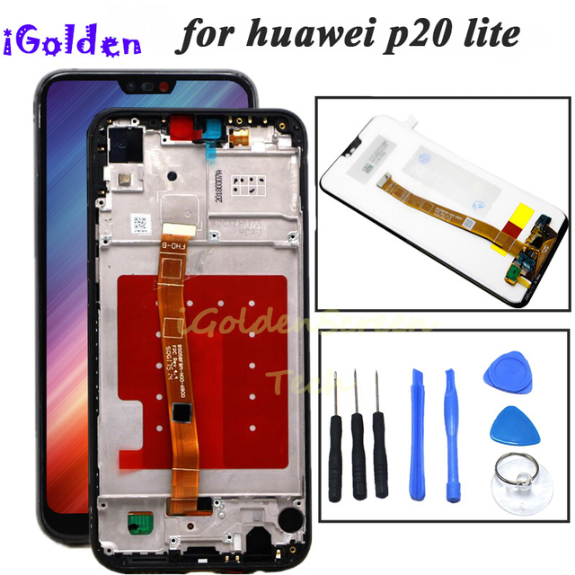for Huawei P20 Lite LCD Display +Touch Screen Digitizer Assembly with frame for HUAWEI P20 Lite ANE LX1 ANE LX3 Nova 3e lcd