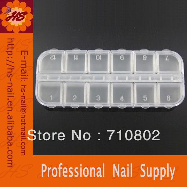 5 Nail Art Glitter Rhinestone Decorations Store Empty Storage Case Box Container