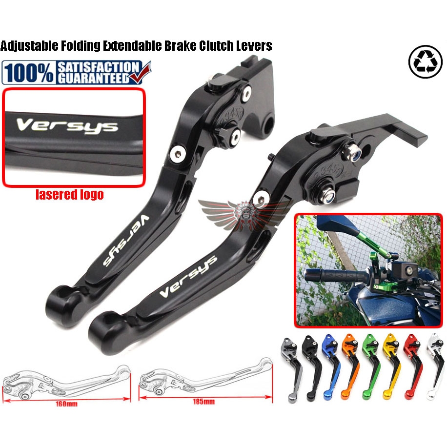For Kawasaki VERSYS 1000 2012-2014 Motorcycle Accessories Adjustable Folding Extendable Brake Clutch Levers adjustable folding extendable brake clutch levers for kawasaki versys 1000 w800 zzr1200 zrx1100 1200 8 colors