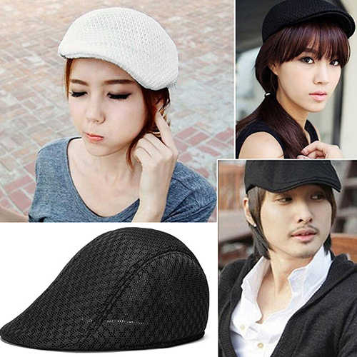 89558d4ae Unisex Fashion Duck Mesh Sun Flat Cap Golf Beret Newsboy Cabbie Baseball Hat