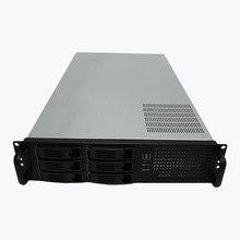 2u650mm горячей замены сервера шасси 6 диск сервера Поддержка atx материнских плат питания стойку шасси