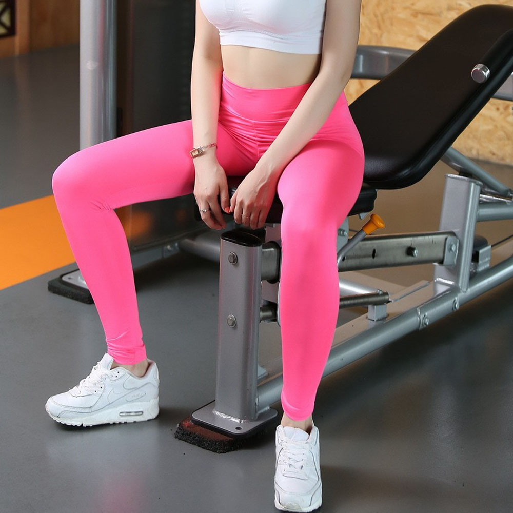 Sexy High Waist yoga leggings For Women yoga workout gym fitness leggings pants jumpsuit Stretched Running Tight Sports trousers 3