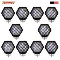 10 PCS 27 W Noir Rouge Shell LED Travail Lumière Avec Masque Pour SUV Camion Offroad 4*4 Bus ATV UTV 12 V 24 V