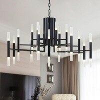 Современные светодиодный Открытый Подвесные Светильники висит Освещение 24 60 hanglamp фойе avize столовая Кухня подвесной светильник