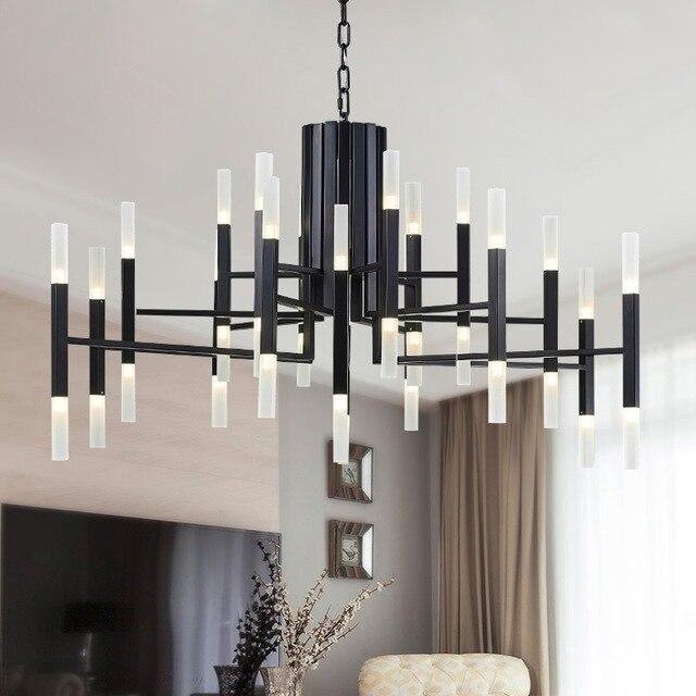 Modern LED Pendant Lights Hanging Lighting 24-60 Hanglamp Foyer Avize Dining room Kitchen Fixtures Suspension Luminaire