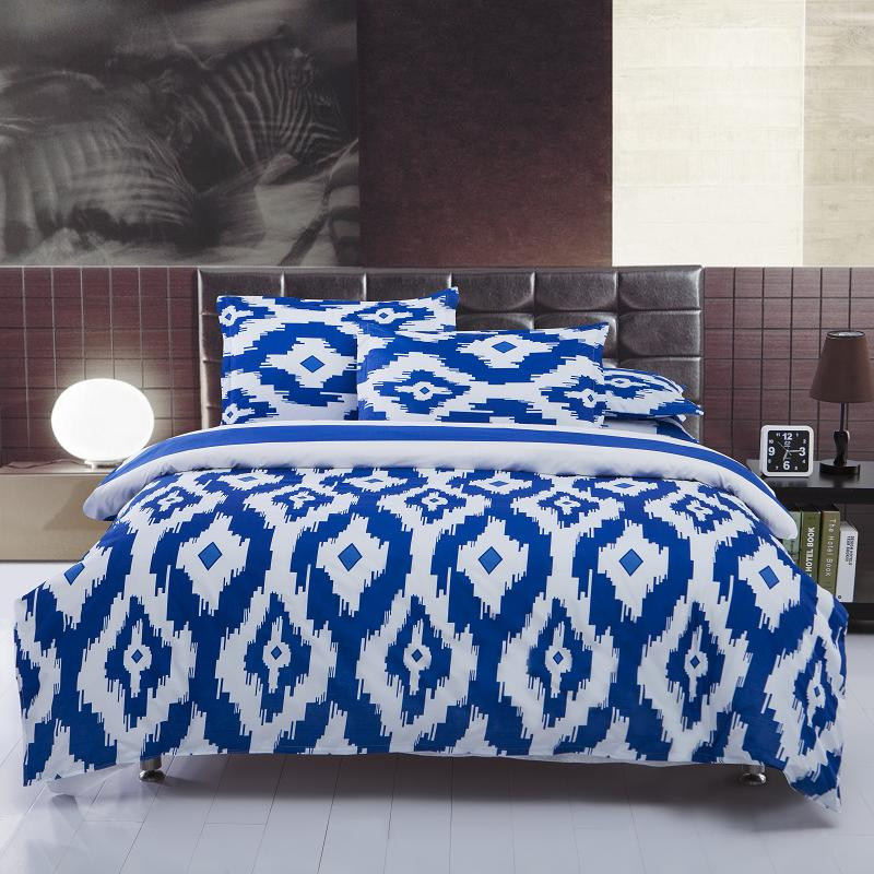 New Hot Blue And White Bedding Sets Full Queen Size