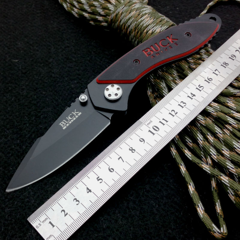 Pocket font b Knife b font BUCK Folding Blade font b Knife b font G10 Handle