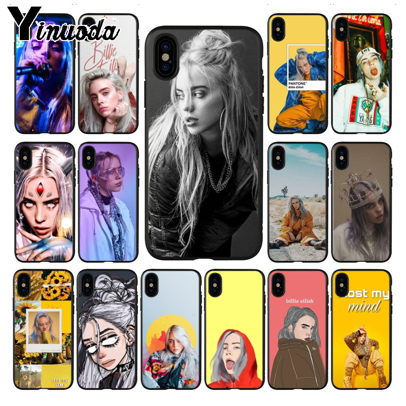 Yinuoda Billie Eilish 13 Girl Black silicone TPU Soft Phone Case Cover for iphone X XS MAX 5 6S SE 7 8 plus XR Mobile Case funda image