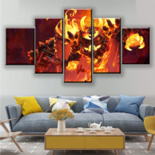 Modular Wall Art Framework Decor 5 Piece Game Heroes of the Storm Poster Ragnaros Painting Living Room Canvas HD Print Picture цена