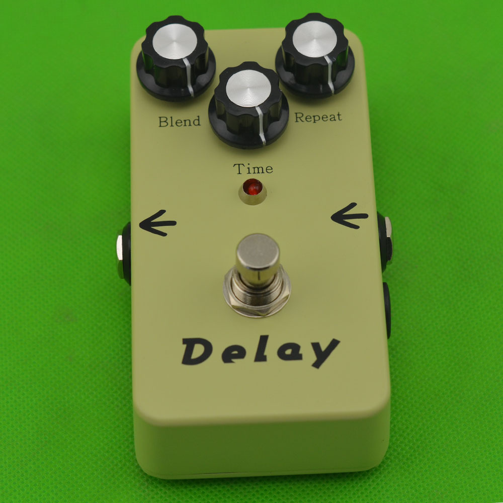 все цены на Free Shipping Electronic Analog Delay Electric  Guitarra Guitar Effect Pedal True Bypass Musical Instrument Parts