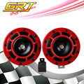 GRT - New Arrived 12V 110dB Super Loud Compact Electric Blast Tone For Motorcycle and Car One pair=2pcs Red color