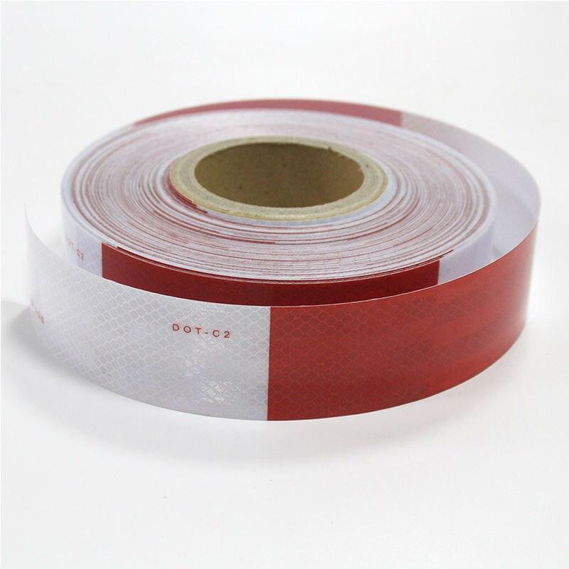 "Reflective DOT Tape Roll 150/' X 2/"" Red//White Trailer Reflector Diamond Pattern"