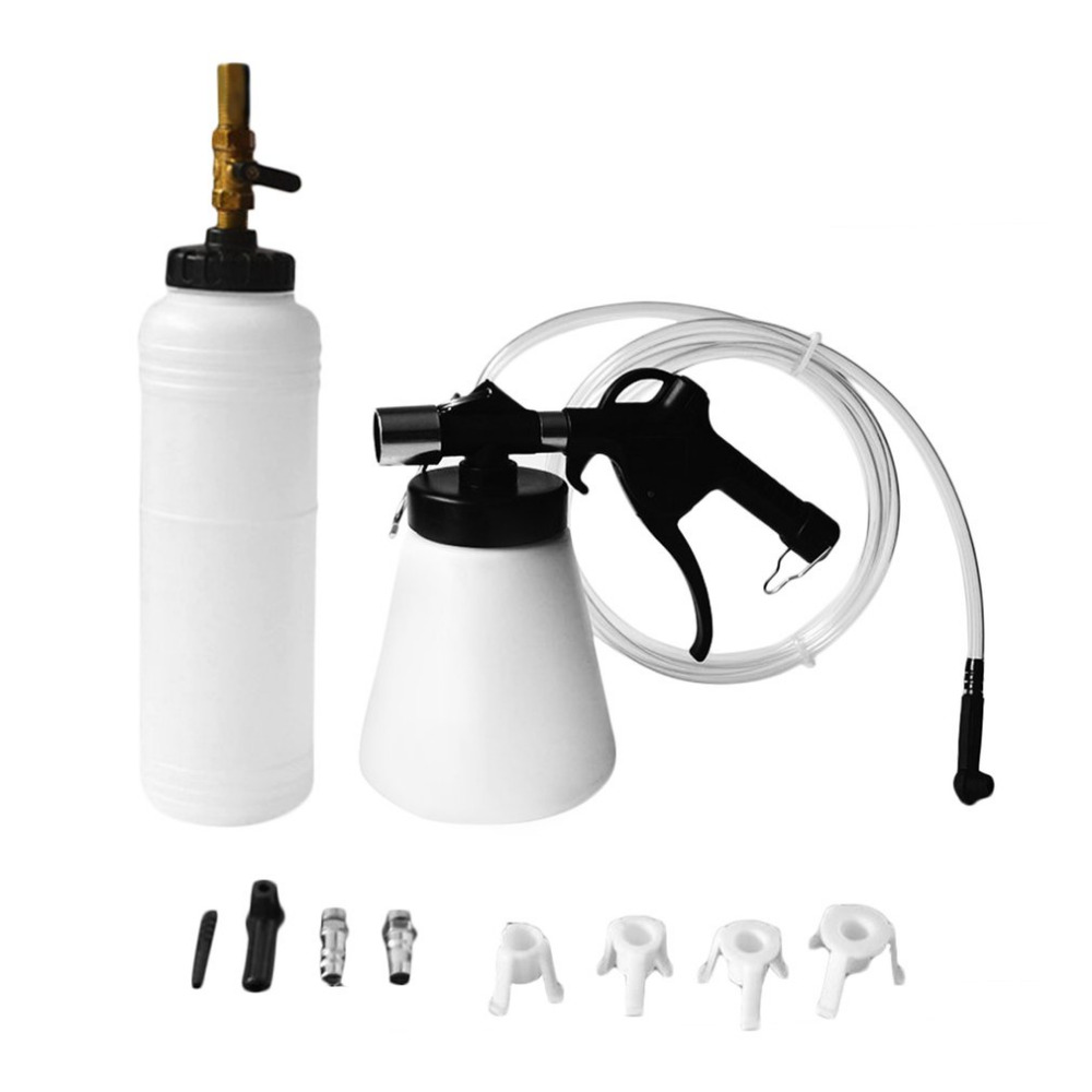 Professional 87-174psi Air Pressure 0.75L Air Brake Bleeder Kit Pneumatic Brake Clutch Vacuum Hydraulic Fluid Fill Bottle Kit