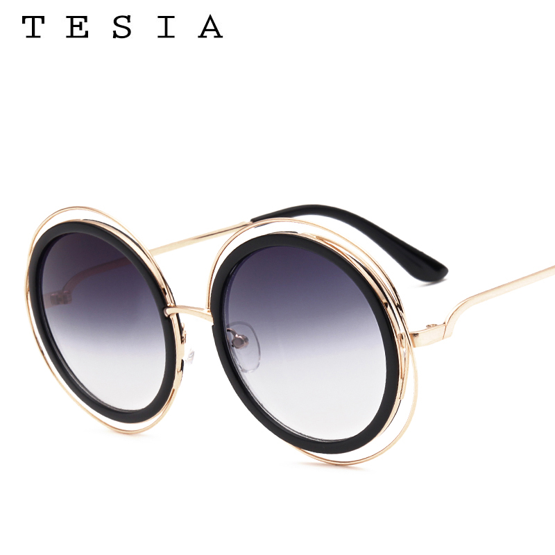 c6c5fa655aef0b Carlina Oversized Round Sunglasses Women Brand Designer Sun Glasses Female  Quality Ladies Shades Mirror lunette T829-in Sunglasses from Apparel  Accessories ...