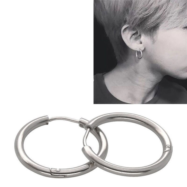 PINKSEE 1 Pair Stainless Steel Simple Round Stud Earring For Man Unisex 3 Colors Ear Piercing.jpg 640x640 - PINKSEE 1 Pair Stainless Steel Simple Round Stud Earring For Man Unisex 3 Colors Ear Piercing Jewelry Gifts