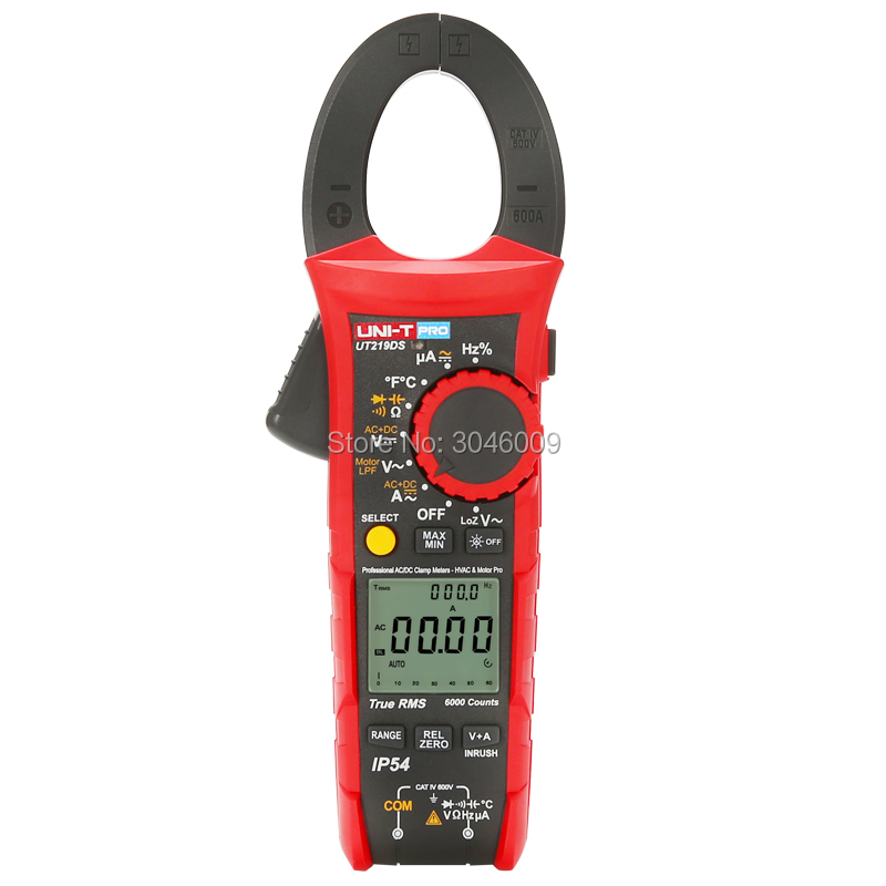 Image 2 - UNI T UT219DS true RMS Professional Clamp Meter; IP54 dust/waterproof digital ammeter, LoZ voltage measurementClamp Meters   -